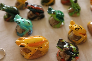 Handcrafted frogs